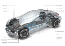 Antriebsstrang des BMW Vision Efficient Dynamics