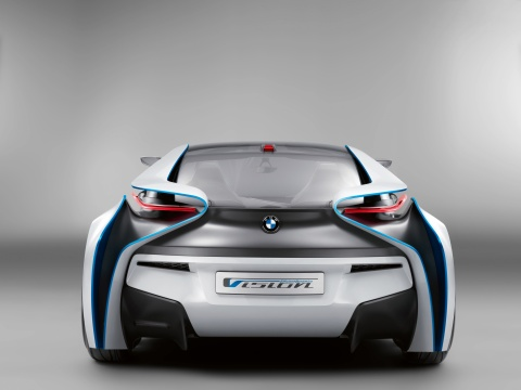 Heckansicht des BMW Vision Efficient Dynamics 2009
