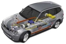 Hybrid-Komponenten des BMW X3 Efficient Dynamics 2005