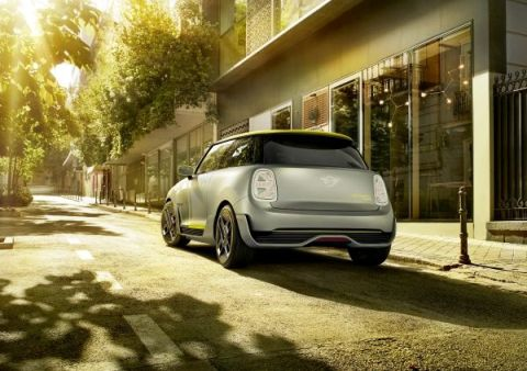 Mini Electric Concept 2017 Heck gross